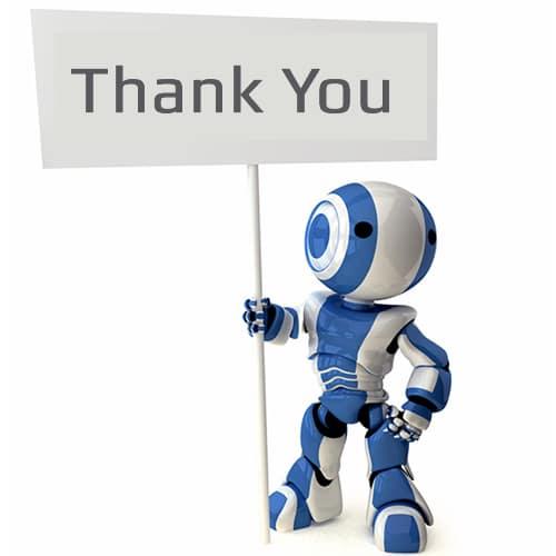 Huren robot bedankt