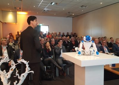Keynote exponential technology with a robot