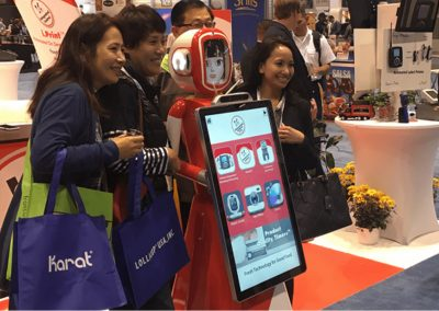 Event robot with customers